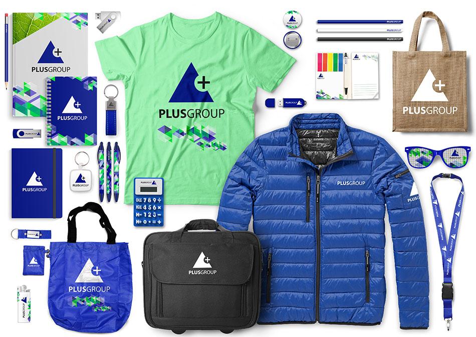Exemple de collection d'objets personnailés et de cadeaux d'affaires
